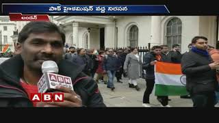 Pulwama Attack : Britain Indians protest at Pakistan High Commission