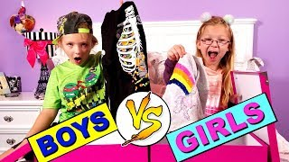 DON'T CHOOSE THE WRONG MYSTERY BOX - Girls vs Boys Clothes Swap Challenge!!!