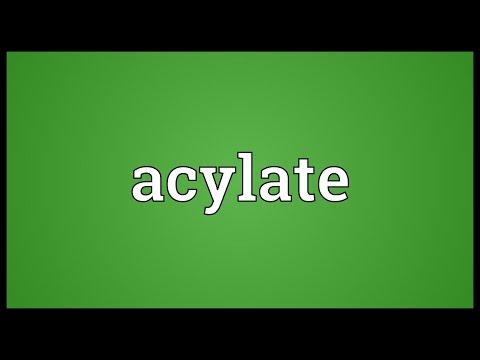 Header of acylate