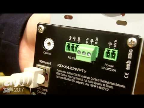 ISE 2017: Key Digital Talks About KD-X422WPTx Wall Plate Solution