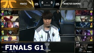 FNC vs IG Game 1   Grand Final S8 LoL Worlds 2018   Fnatic vs Invictus Gaming G1