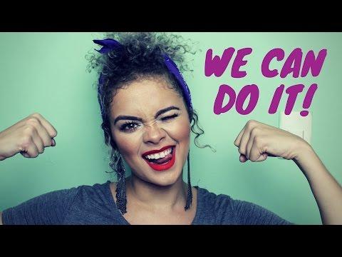 "#VAIQVAI: Blogueira profissional + Penteado ""We can do it"""