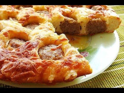 Пирог с фрикадельками. Самый простой и вкусный пирог.
