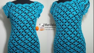 how to crochet easy top for beginners blusa vestido paso a paso