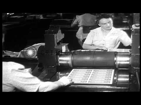 Making of US Currency Notes at the Bureau of Engraving and Printing in Washington...HD Stock Footage