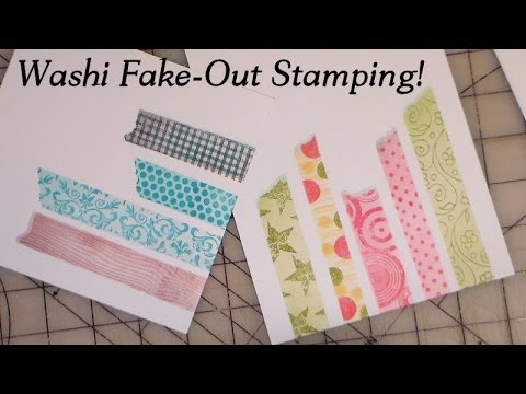Washi fake out stamping trick youtube for What can you do with washi tape