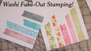washi fake out stamping trick