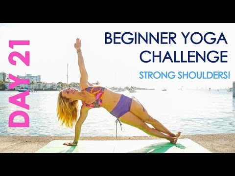 Day 21 Beginner Yoga Challenge - Plank it Out for Strong Shoulders!