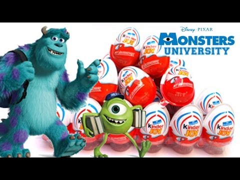 12 Monsters University kinder Joy surprise eggs - unboxingsurpriseegg