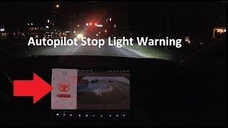 Tesla Red Light Warning DOESN'T WORK! (yet)