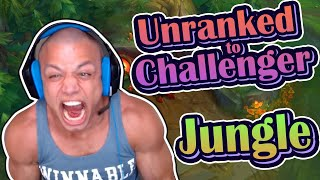 Tyler1 - JUNGLE ONLY, day 1 - draven, UNRANKED TO CHALLENGER