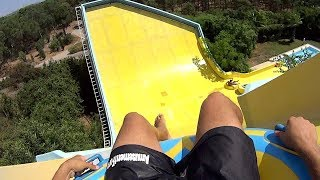 Banana Curve Water Slide at Aqualand Antalya