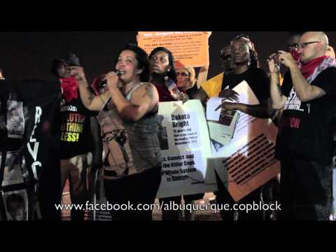 Mike Brown Protest albuquerque copblock shows support