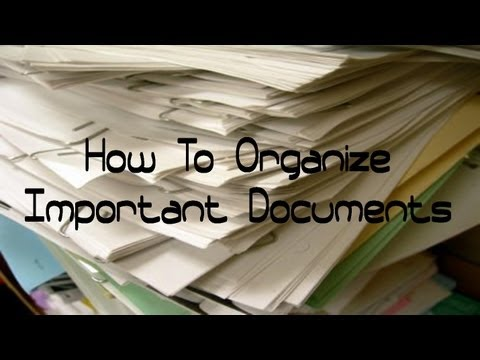 How To Organize Important Documents (Updated Filing System)