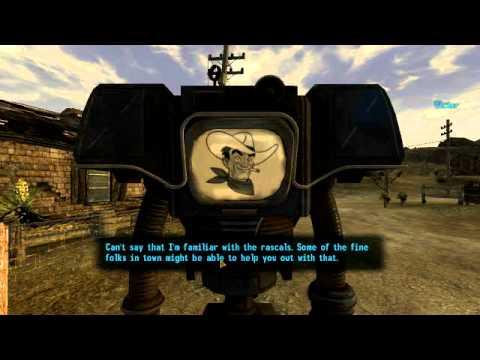 Cowboy Robot Fallout New Vegas Fallout New Vegas Talking