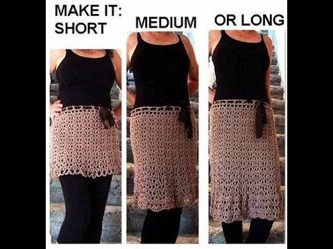 CROCHET: Make A SKIRT, any size, toddler to adult, short ...