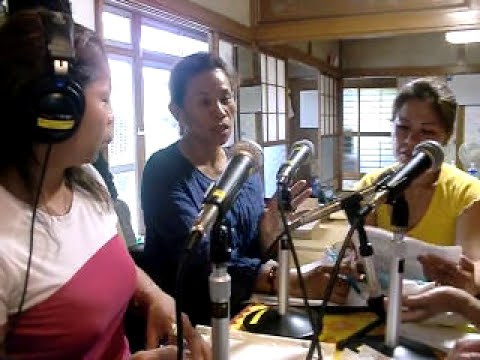 Radio Program by Filipinas in Tsunami struck area