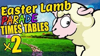 Easter Sheep Teaching Multiplication Times Tables x2 Educational Math Video for Kids