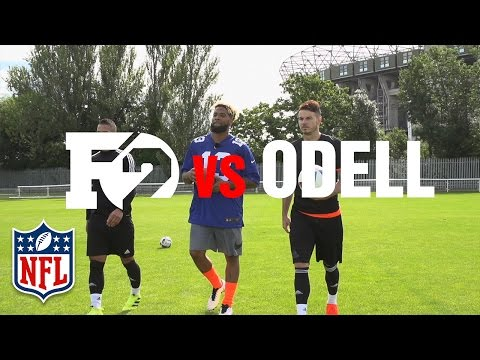 Odell Beckham Jr. Teaches F2 the Spectacular Catch, Banana Punts & How to Throw a Football | NFL