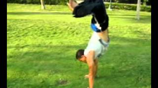 how to do hand stand tutorial مع نسر الكونغ فو
