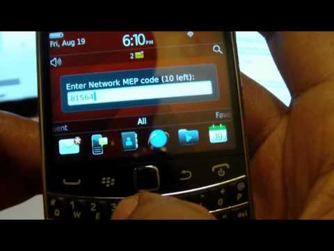 Video: How to Unlock the BlackBerry Bold 9900 9930 At&t T-Mobile Verizon & More! Unlock Kings