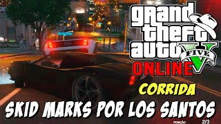 GTA 5 Online - Corrida Skid Marks: Rampas e curvas em Los Santos