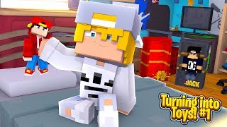 Minecraft Toys #1 - ROPO & JACK TURN INTO TOYS!!