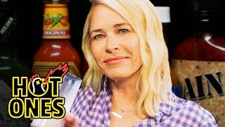 Chelsea Handler Goes Off the Rails While Eating Spicy Wings | Hot Ones
