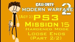 Call Of Duty MW2 (PS3) Mission 15 - Loose Ends (Hardened Mode) (Act 3) (2/2)