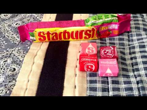 Candy🍬review: FaveREDS Starburst FRUIT CHEWS from here in the United States.