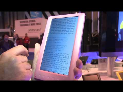 Elonex colour e-Reader at the Gadget Show 2011 - Which first look review