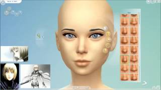 The Sims 4 - Creating anime character - EPISODE 1 - Claire Claymore