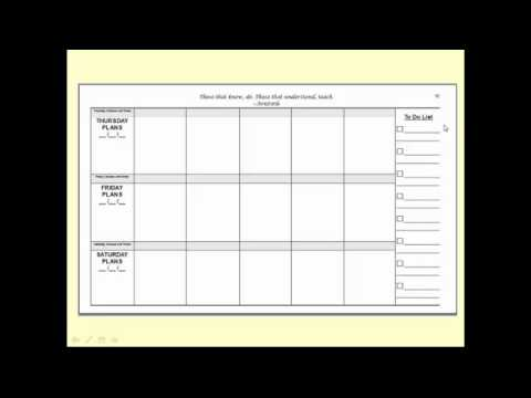 Instructor Lesson Plan Template Gallery Template Design Free Download