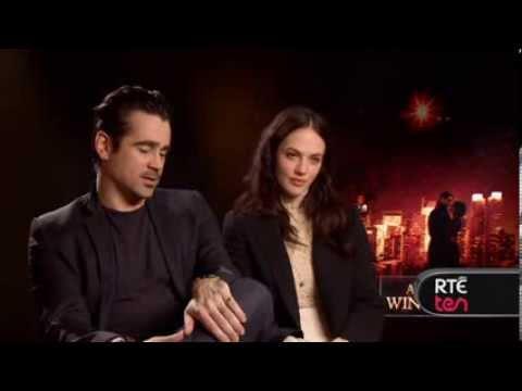 Colin Farrell, Jessica Brown-Findlay & Director Akiva Goldsman