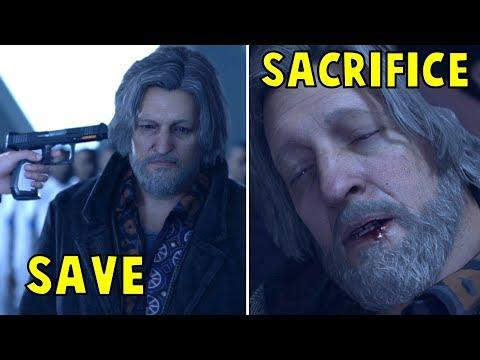 Connor Sacrifices vs Saves Hank - Every Single Choice - Detroit Become Human