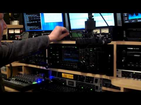 G0SEC, Ham Radio Shack tour & using Dstar on icom 2820 Part 2