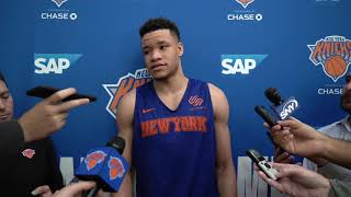 Knicks Training Camp 2019: Kevin Knox Speaks on Day 3