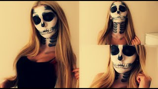 Halloween Skull Makeup Tutorial deutsch