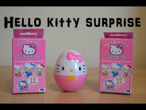 Sanrio Hello Kitty Surprise Box Surprise Egg Haul Unboxing Review kitty hello (HD)