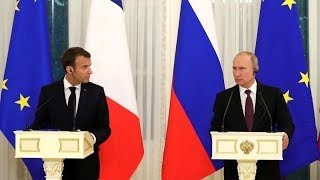 Putin & Macron speak to media