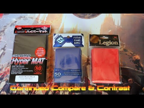 MTG Review: Best Card Sleeves For Magic The Gathering Compare & Contrast Legion. Fantasy Flight. KMC