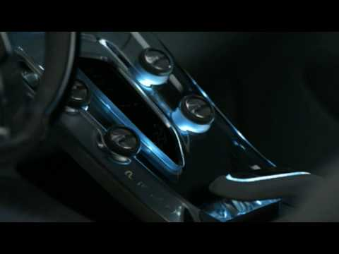 Volvo S60 Concept with crystal center console made by Orrefors