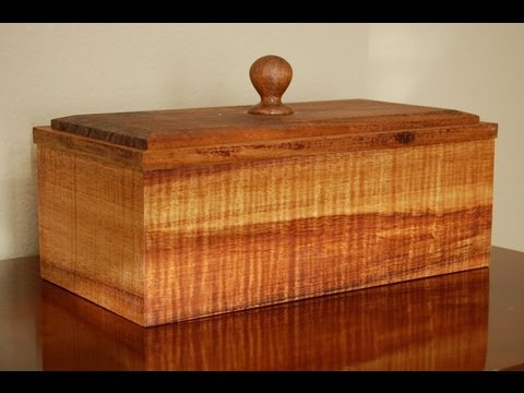 Woodworking Projects - How to Make a Jewelry Box - Part 6 - Joinery Techniques & Applying Finish