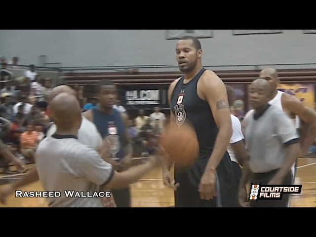 40-Year-Old Rasheed Wallace STILL Has Game (16 Year NBA Veteran)