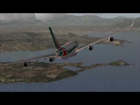 FSX : A340 landing @ Naples, Italy