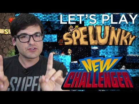 Let's Play Spelunky with the Developer! - NEW CHALLENGER
