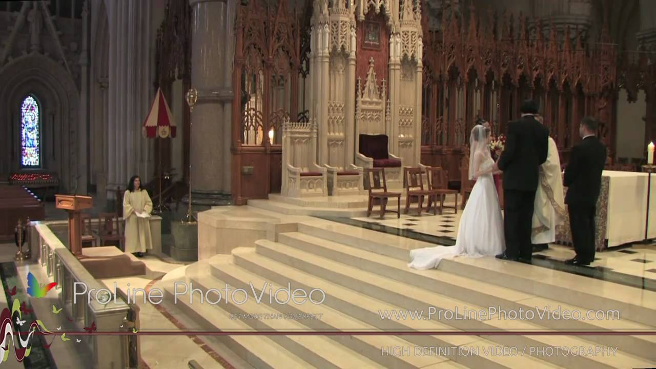 Wedding Ceremony At Basilica Of The Sacred Heart Church