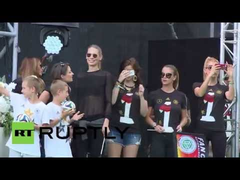 Germany: Fans flip out for German World Cup champions
