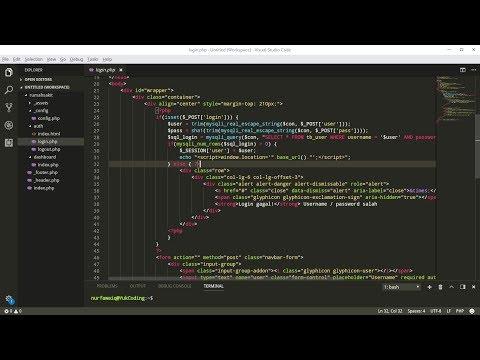 Membuat Security Akses Page Login dan Dashboard (4)
