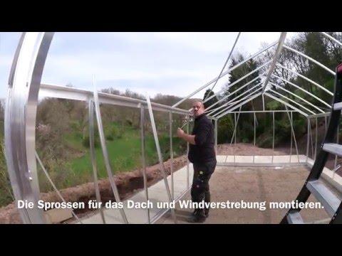 Aufbau VDG Gewächshaus R408